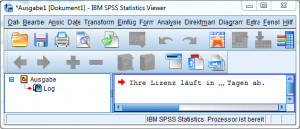 Screenshot-SPSS-Ausgabefenster-Ihre-Lizenz-läuft-in-4-Tagen-ab_2014_11_27