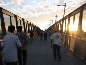 Pedestrian Bridge to Mexico